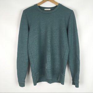 MARINE LAYER   textured crewneck sweatshirt 0347